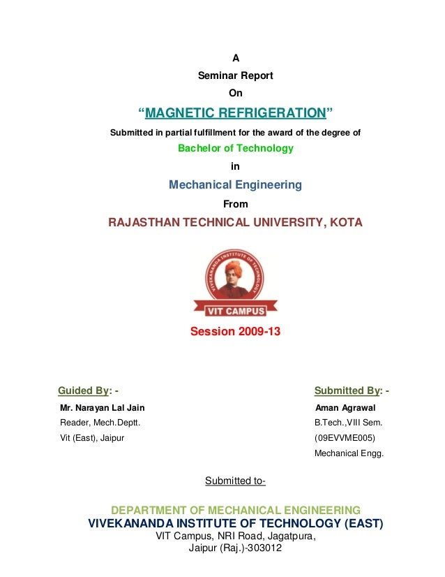 """A                                    Seminar Report                                           On                     """"MAGN..."""