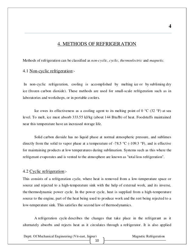 Magnetic Refrigeration Pdf