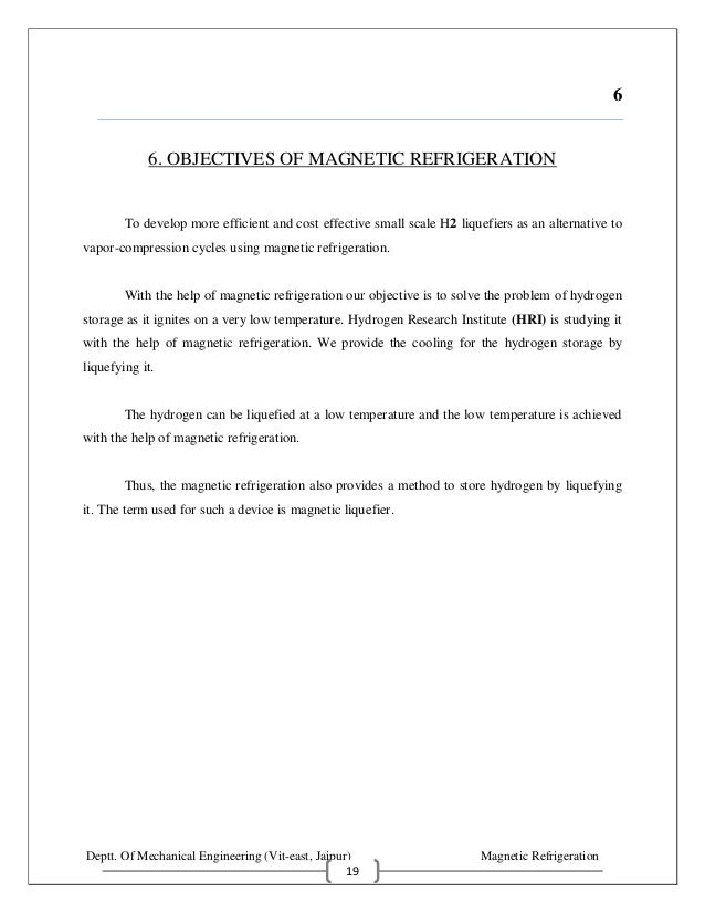 Magnetic Refrigeration Seminar Report - Microsoft word photography invoice template online vapor store