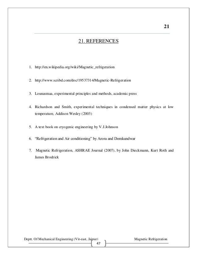 Magnetic refrigeration seminar report magnetic refrigeration 46 49 yadclub Images