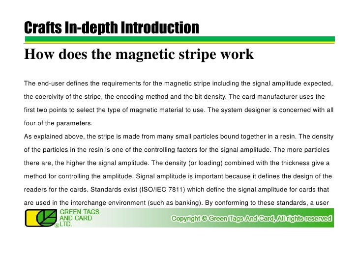 It magnetic strip works