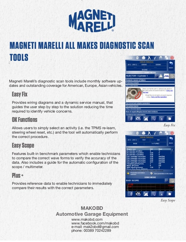 magneti marelli cars and trucks diagnostic tools brochure en. Black Bedroom Furniture Sets. Home Design Ideas
