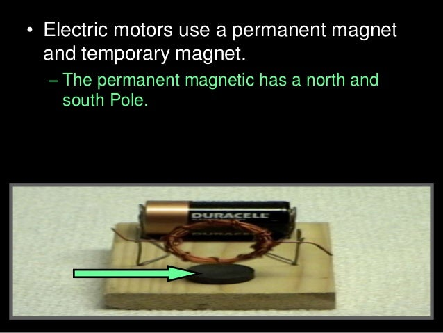 • Activity! Building a small electric engine. • A.) Coil the wire around the D battery many times. Remove the coil and wra...