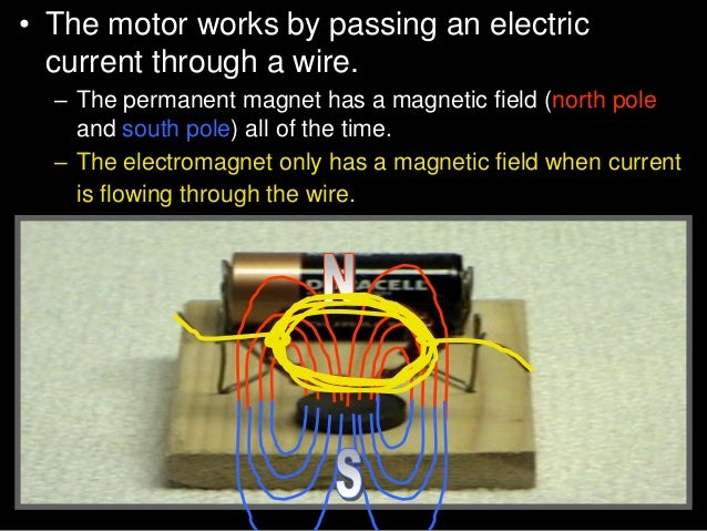 • Activity! Building a small electric engine. • E.) Balance the coil in the paper clip loop. Adjust the height so the coil...