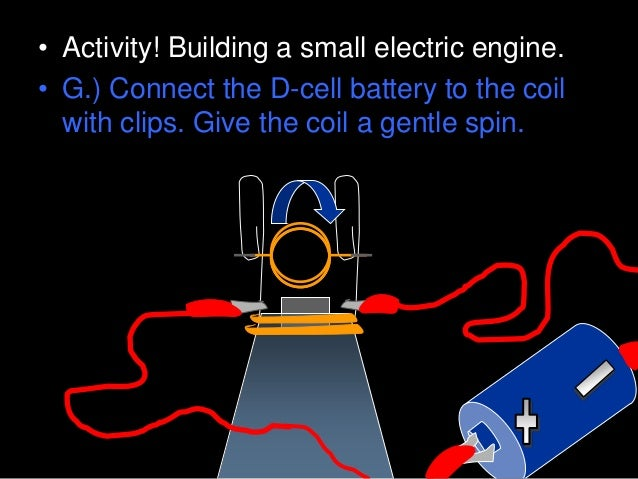 • We created an electromagnet when we created our electric motor.