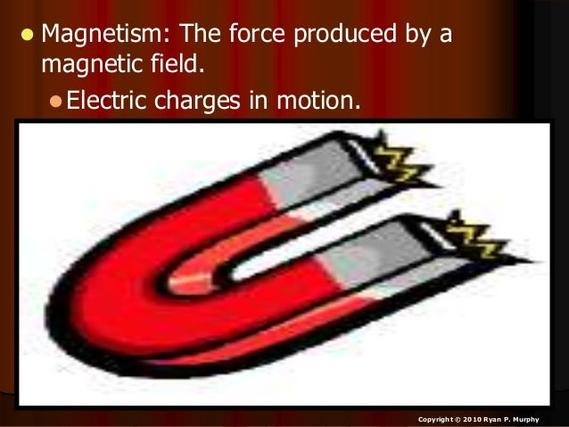 • Demonstration – Iron filings over a magnetic field – Sprinkle iron filings on a piece of paper. – Create the two poles a...