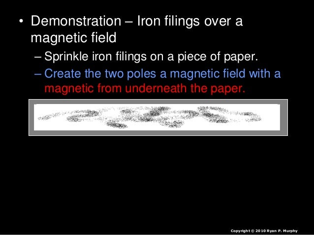 • The spinning inner cores of solid and liquid Iron creates a giant electromagnetic field. Copyright © 2010 Ryan P. Murphy