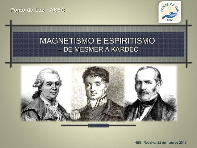 MAGNETISMO E ESPIRITISMOMAGNETISMO E ESPIRITISMO – DE MESMER A KARDEC– DE MESMER A KARDEC Ponte de Luz - ASECPonte de Luz ...