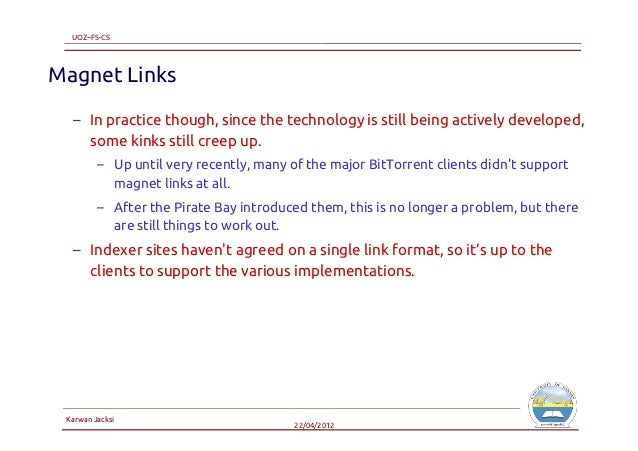 the pirate bay magnet links wont work