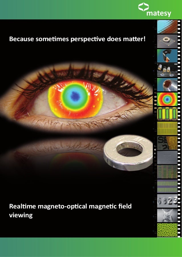 Because sometimes perspective does matter!Realtime magneto-optical magnetic fieldviewing