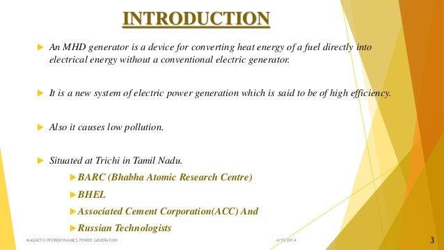 magneto hydro power generation pdf
