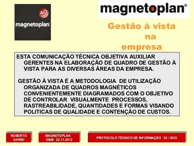 Gestão à vista                                         na                                    empresa  ESTA COMUNICAÇÃO TÉC...