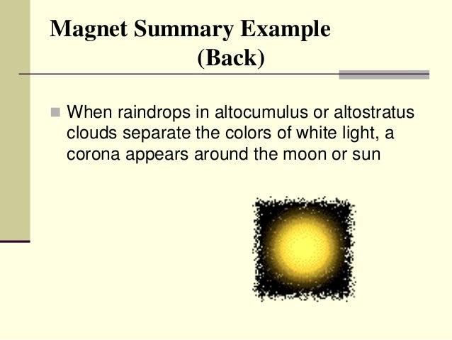 Magnet Summary Presentation