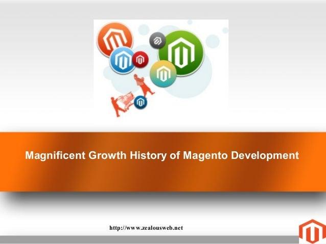 Magnificent Growth History of Magento Developmenthttp://www.zealousweb.net
