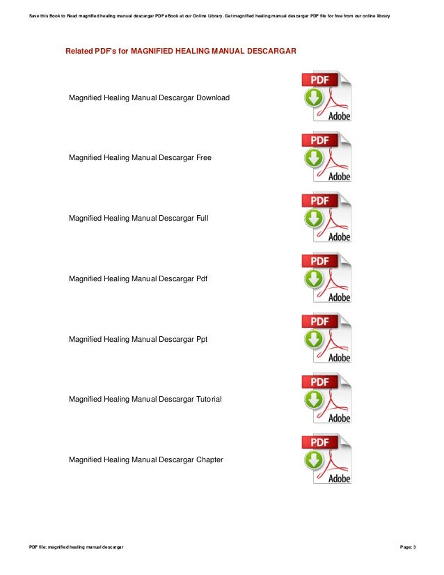 magnified healing manual descargar rh slideshare net magnified healing manual gratis magnified healing manual