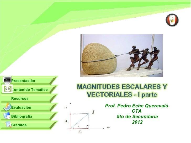 PresentaciónContenido TemáticoRecursosEvaluación           Prof. Pedro Eche Querevalú                                  CTA...