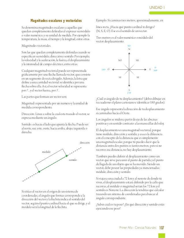 UNIDAD 1        Magnitudes escalares y vectoriales                      Ejemplo: Si caminas tres metros, aproximadamente, ...