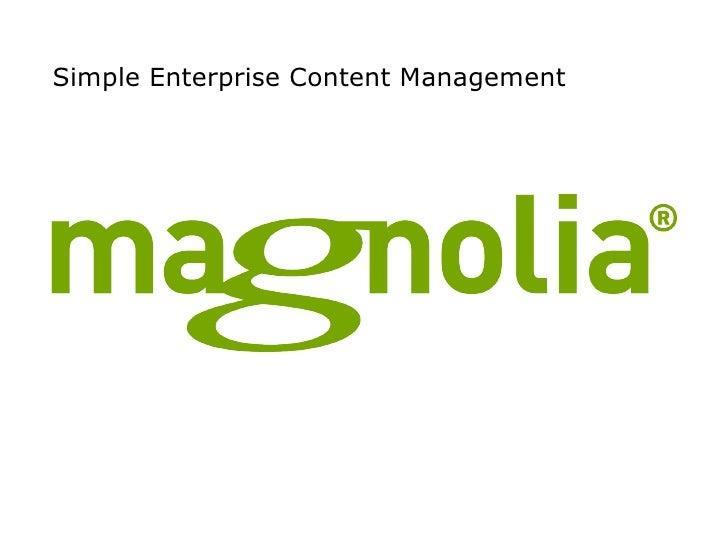Simple Enterprise Content Management