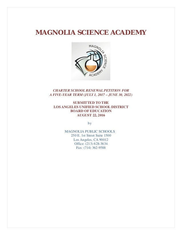 Magnolia Science Academy 1 Reseda Renewal application DENIED #Mustafa…