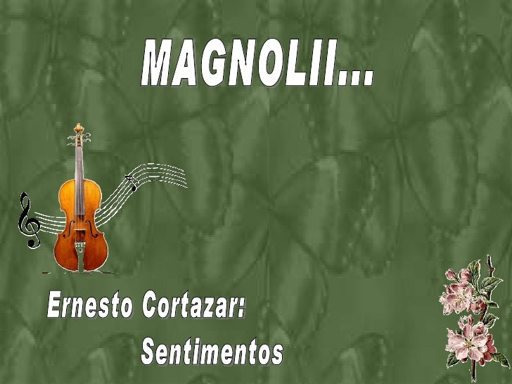 MAGNOLII... Ernesto Cortazar: Sentimentos