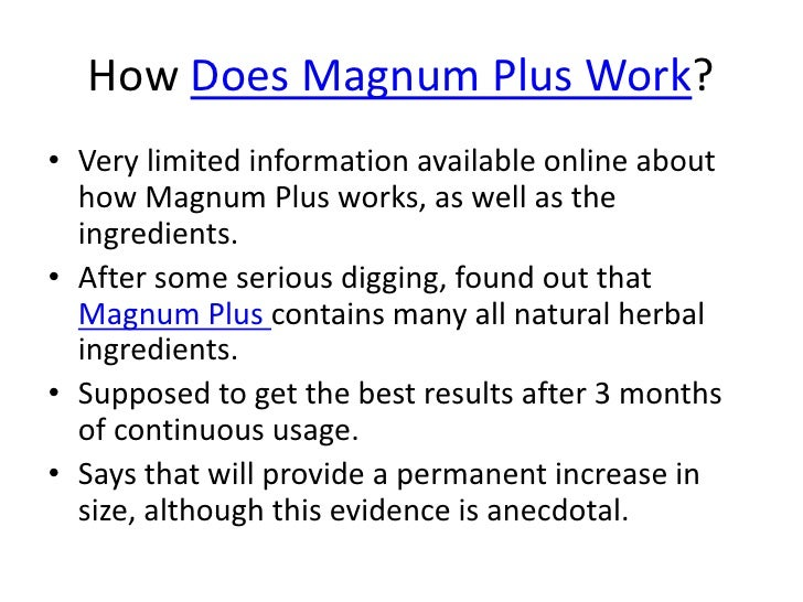 Who is the Manufacturer of Magnum Plus?