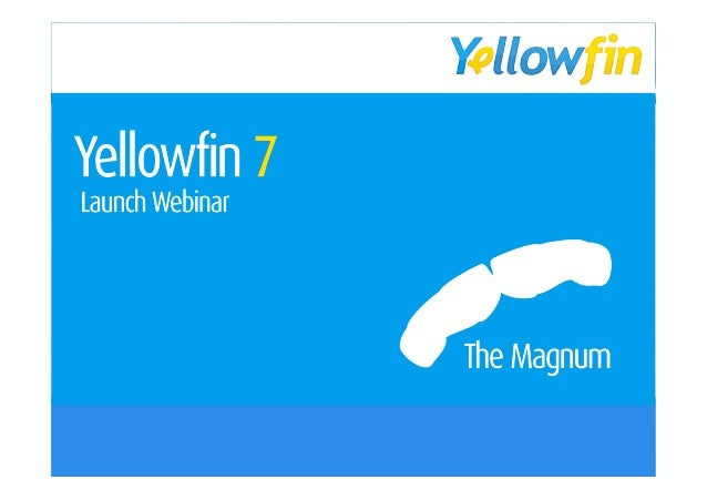 Yellowfin 7 - Magnum  Point believe We  that • Dot 1 Business Intelligence • Dot 2 and Analytics should be easy