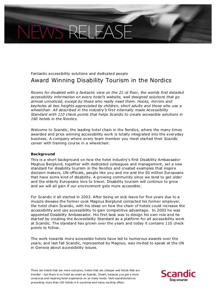 Fantastic accessibility solutions and dedicated peopleAward Winning Disability Tourism in the NordicsRooms for disabled wi...