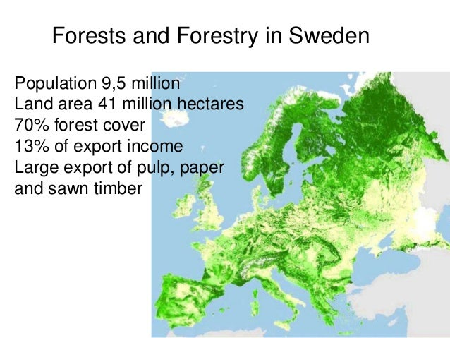 SFM And Integrated Approaches At The Landscape Level To Tackle Climat - Sweden forest map