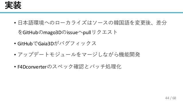 / 68 • GitHub mago3D issue pull • GitHub Gaia3D • • F4Dconverter 44
