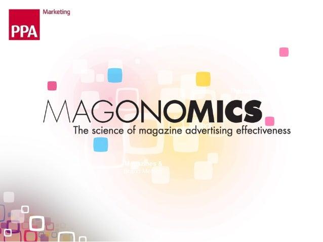 Magazines &Brand MetricsThe impact ofinvestmentEconometrics& ROI