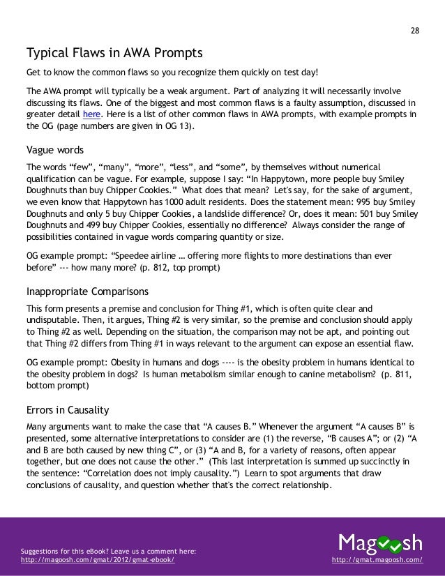 29 Suggestions for this eBook? Leave us a comment here: http://magoosh.com/gmat/2012/gmat-ebook/ http://gmat.magoosh.com/ ...