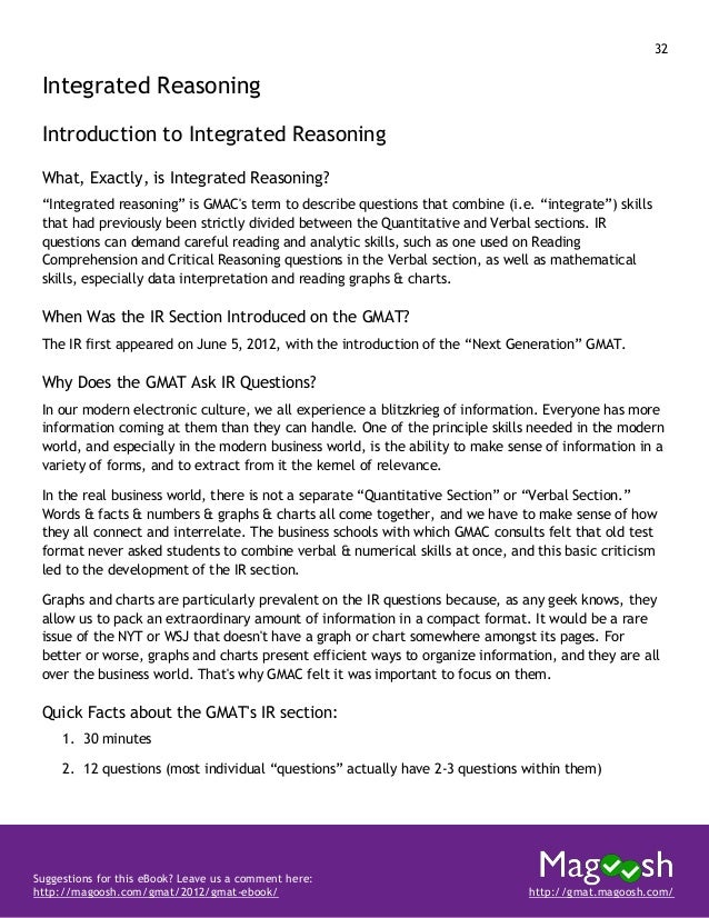 33 Suggestions for this eBook? Leave us a comment here: http://magoosh.com/gmat/2012/gmat-ebook/ http://gmat.magoosh.com/ ...