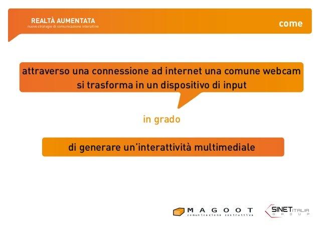 I Venti dell'Innovazione. Realtà Aumentata - nuove strategie di comunicazione interattive. Slide 3