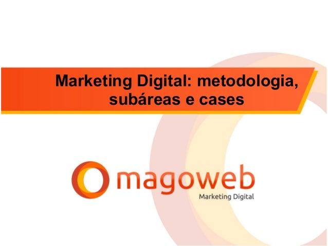 Marketing Digital: metodologia, subáreas e cases