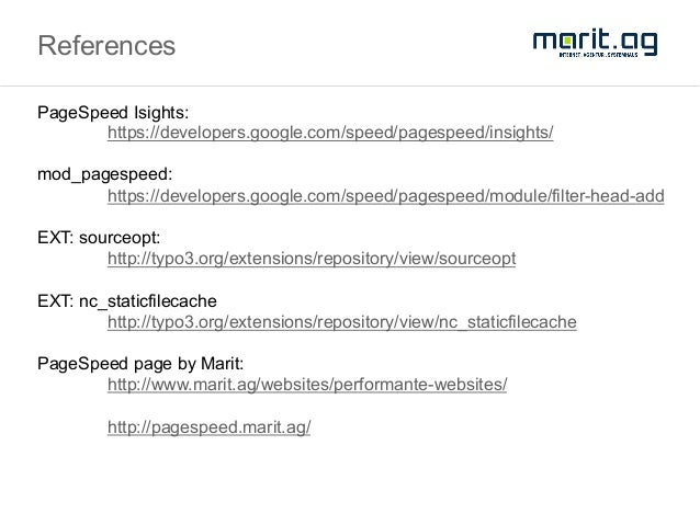 Marit AG - Google Page Speed Insight 100/100 guide