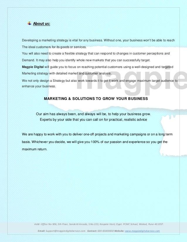 MarketingProposal | Magpie Digital