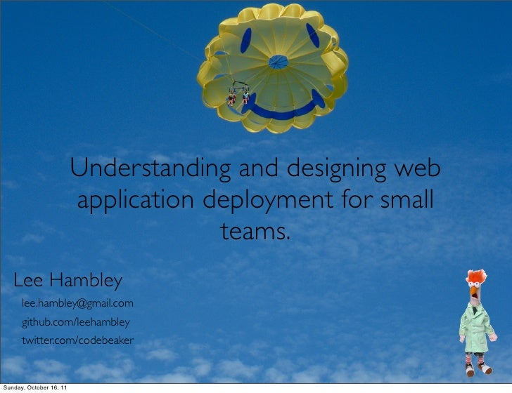 Understanding and designing web                         application deployment for small                                  ...