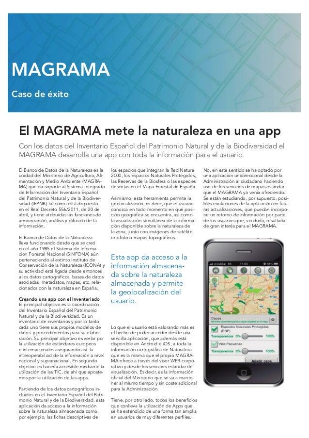 El MAGRAMA mete la naturaleza en una app Con los datos del Inventario Español del Patrimonio Natural y de la Biodiversidad...