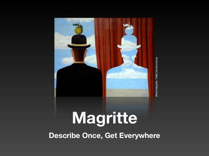 [René Magritte, 1966] Decalcomania      Magritte Describe Once, Get Everywhere