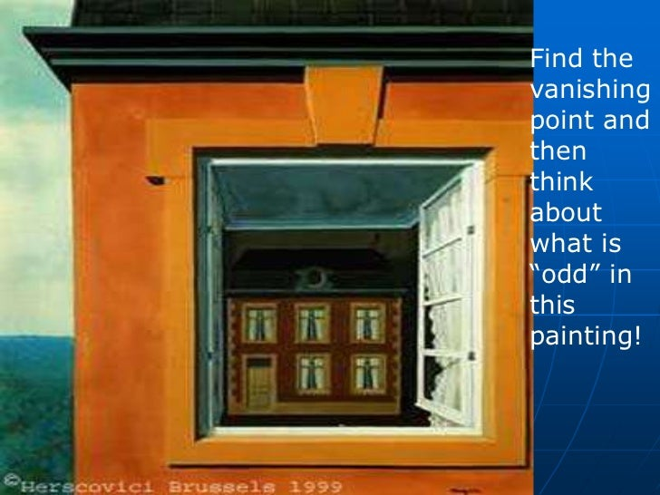 11. & Rene Magritte One Point Perspective and Surrealism