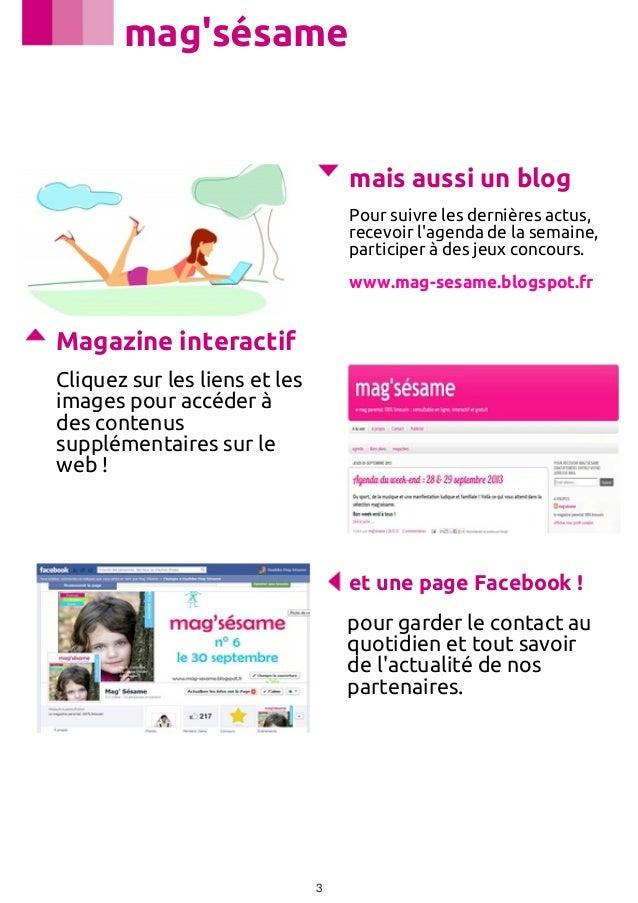 Mag'sésame n° 6   octobre 2013 Slide 3