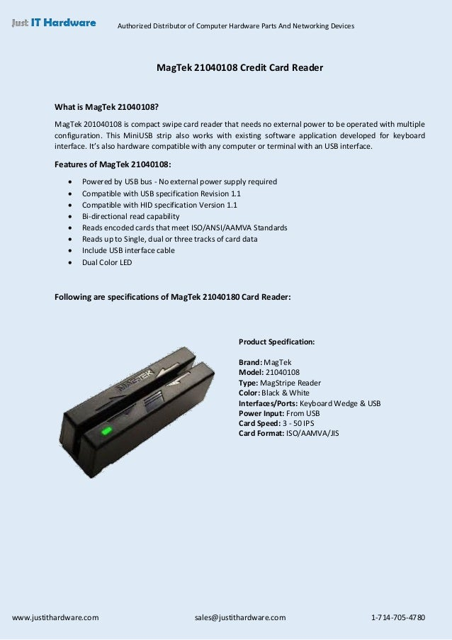 Authorized Distributor of Computer Hardware Parts And Networking Devices www.justithardware.com sales@justithardware.com 1...