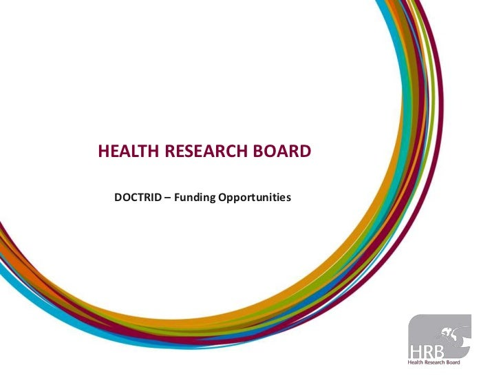 HEALTH RESEARCH BOARD DOCTRID – Funding Opportunities
