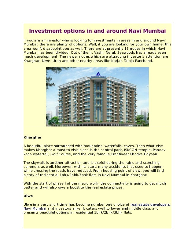 Best investment options in mumbai 2020