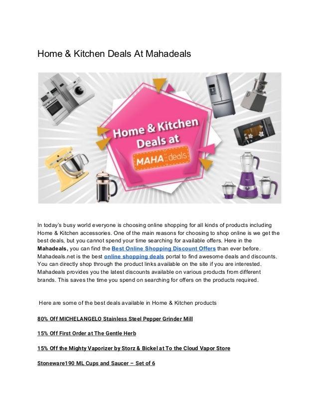 Home & Kitchen Deals At Mahadeals