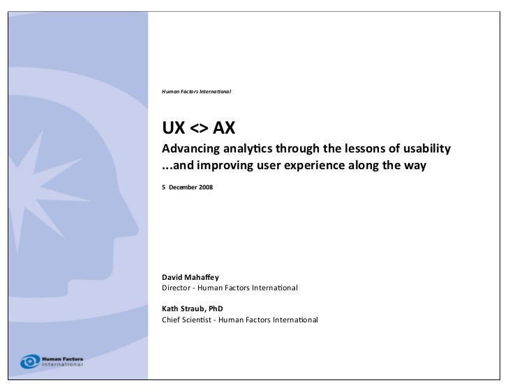 Human Factors Interna/onal     UX
