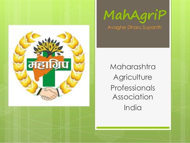MahAgriP  Avaghe Dharu Supanth  Maharashtra  Agriculture  Professionals  Association  India