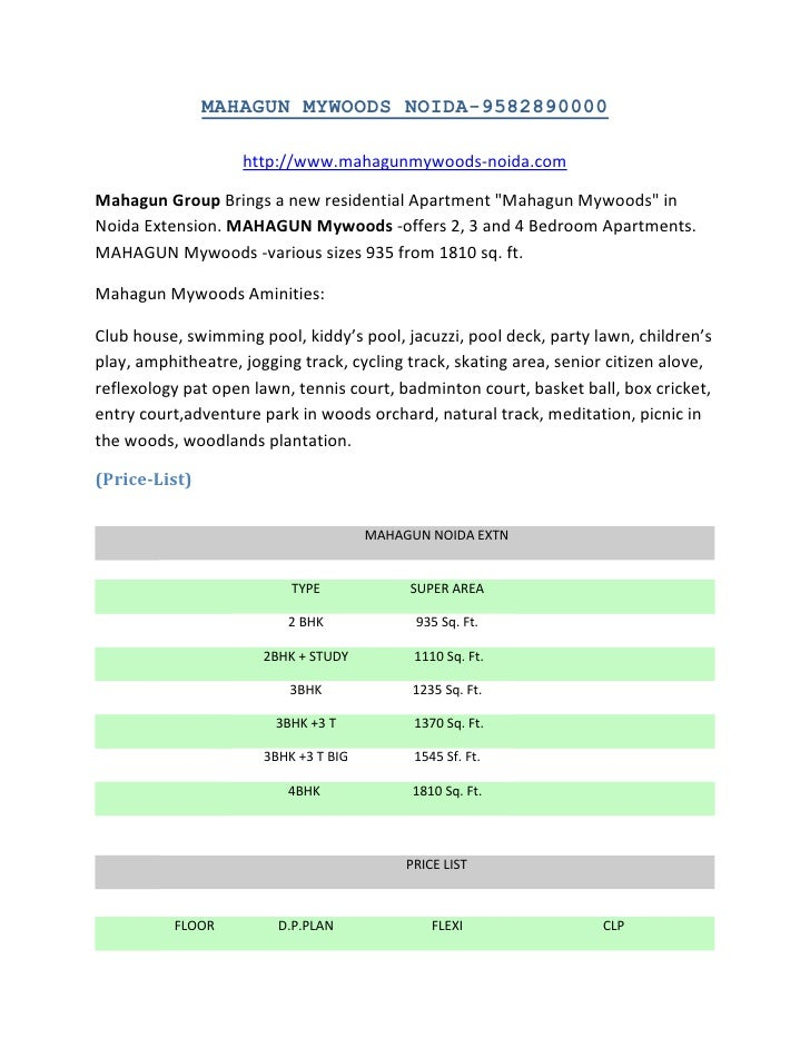 MAHAGUN MYWOODS NOIDA-9582890000<br />http://www.mahagunmywoods-noida.com<br />Mahagun Group Brings a new residential Apar...