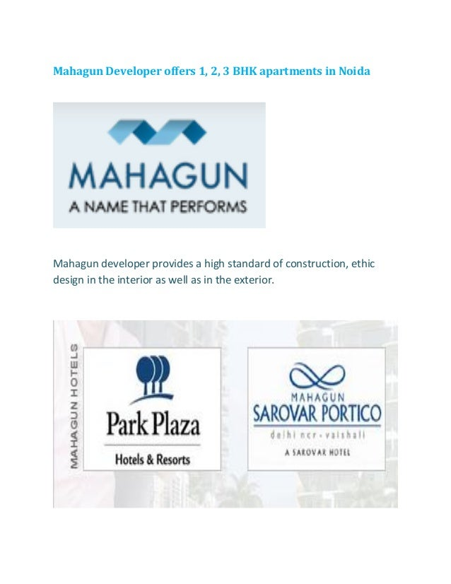 Mahagun Developer offers 1, 2, 3 BHK apartments in Noida Mahagun developer provides a high standard of construction, ethic...