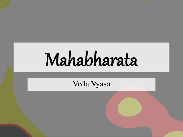 Mahabharata Veda Vyasa